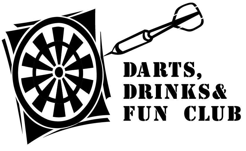 Logo Darts, Drinks en Fun club