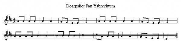 Dorpslied Ysbrechtum